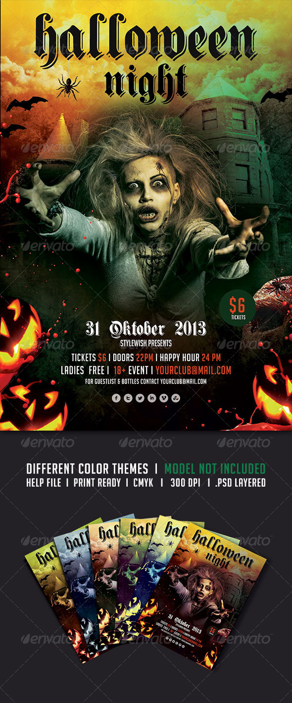 GraphicRiver Halloween Night Flyer 5507020