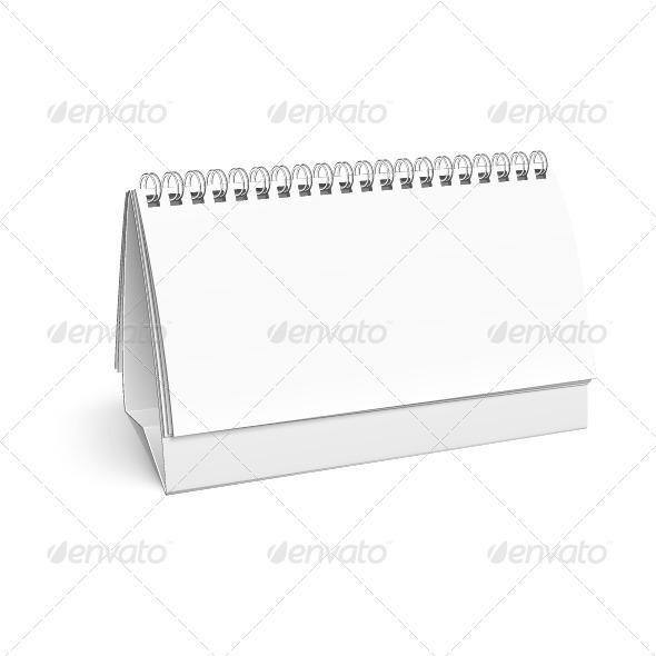 GraphicRiver Blank White Calendar Template 5507131