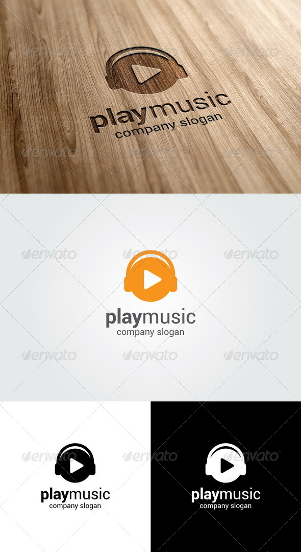 GraphicRiver Play Music Logo 5507191