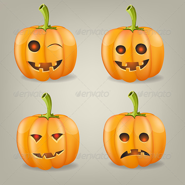 GraphicRiver Set of Pumpkins for Halloween 5507218