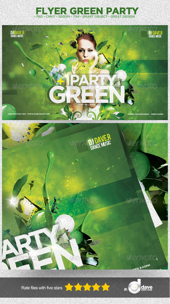 Flyer Green Party - Clubs & Parties Events