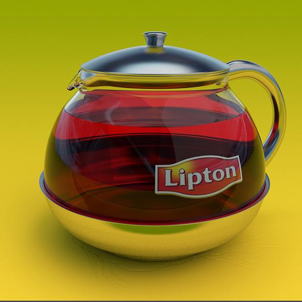 3DOcean Lipton Glass Teapot 5507408