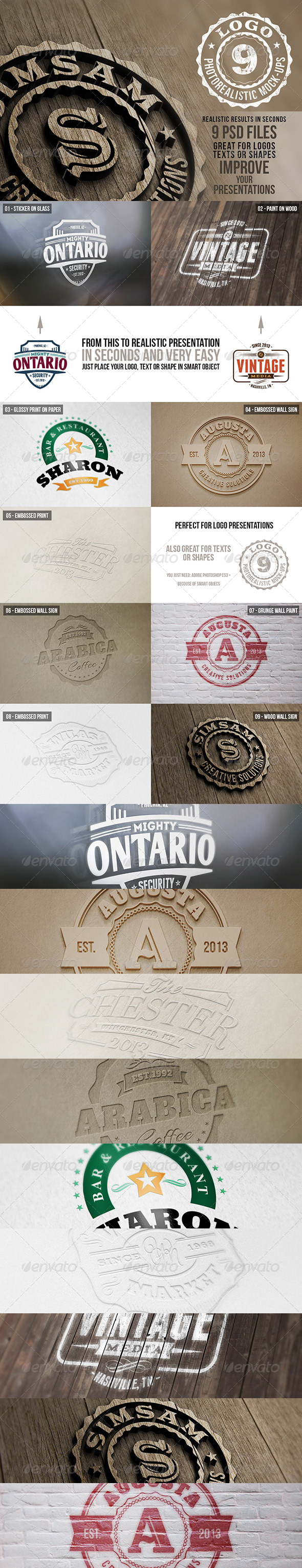GraphicRiver Photorealistic Logo Mock-Ups Vol.1 5507446