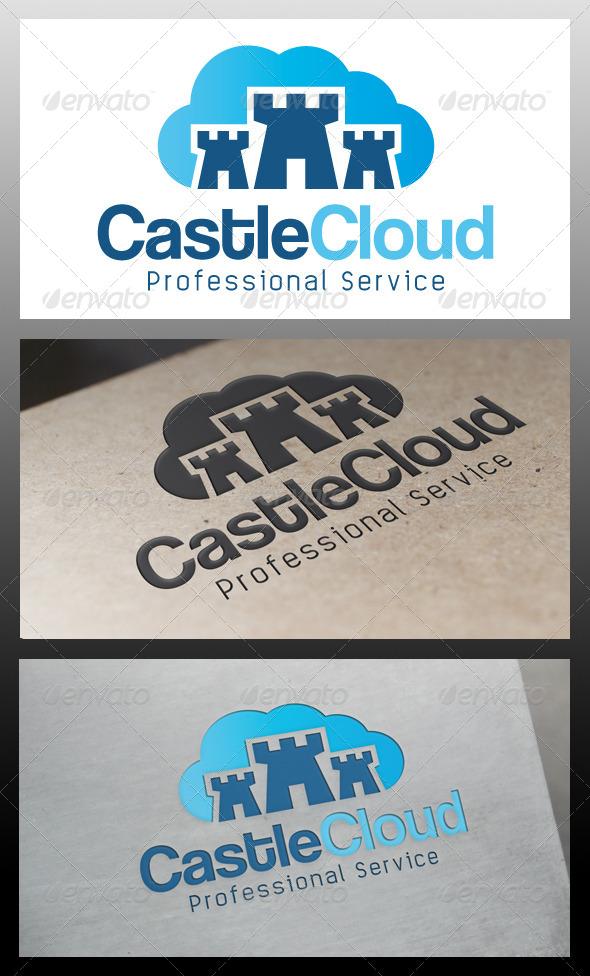 GraphicRiver Castle Cloud Logo Template 5507503