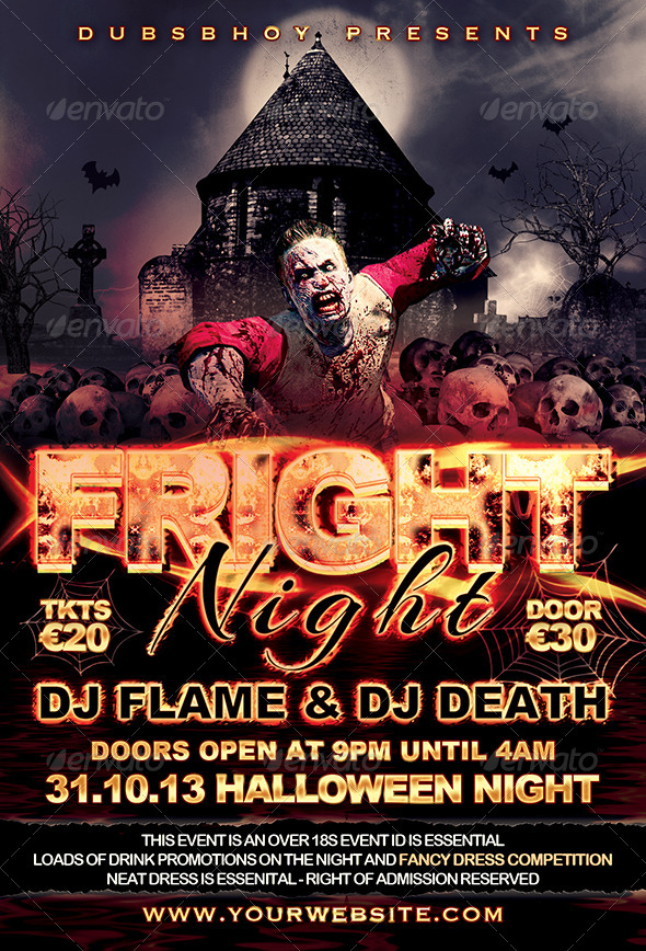 GraphicRiver Halloween Fright Night Flyer 5488586