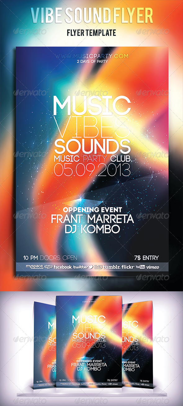 Vibe Sound Flyer - Clubs & Parties Events