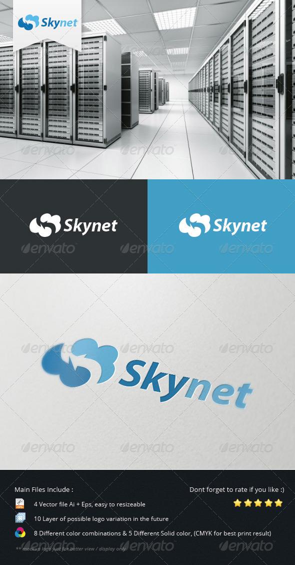 GraphicRiver Cloud Skynet Logo 5507663