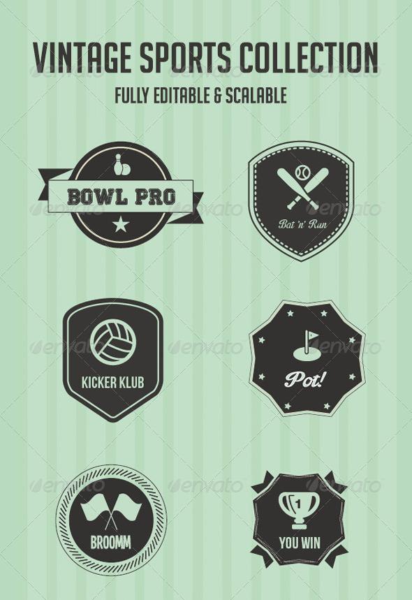 GraphicRiver Vintage Sport Badges 5507826