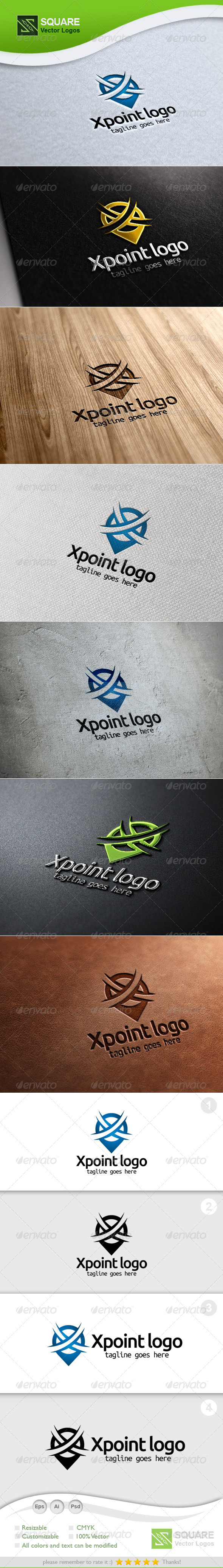 X, Locator Vector Logo Template - Letters Logo Templates