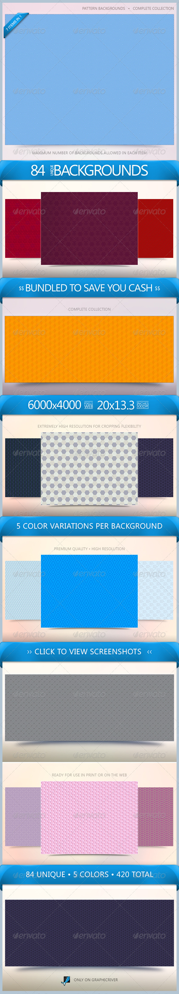 GraphicRiver Pattern Backgrounds Bundle 5507917