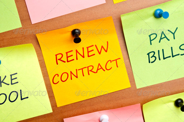 Renew contract - Stock Photo - Images