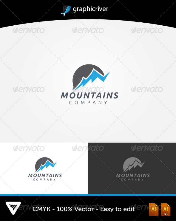 GraphicRiver Mountains Logo 5508424
