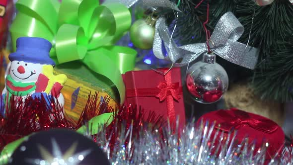 Christmas Presents And Garland