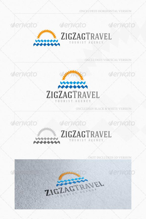 ZigZag Travel Logo - Nature Logo Templates