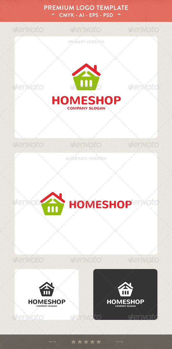 Home Shop Logo - Buildings Logo Templates