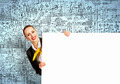 Businesswoman with blank banner - PhotoDune Item for Sale