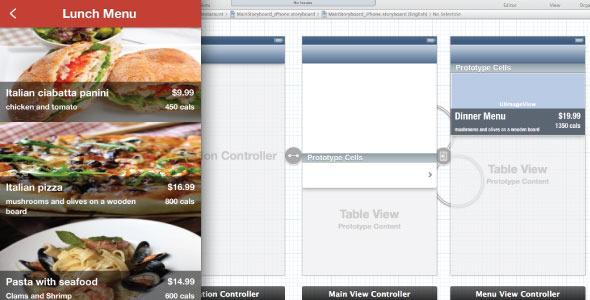 CodeCanyon iOS Restaurant Image Menu 5463885