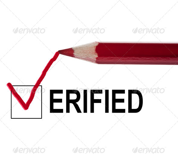Verified message - Stock Photo - Images