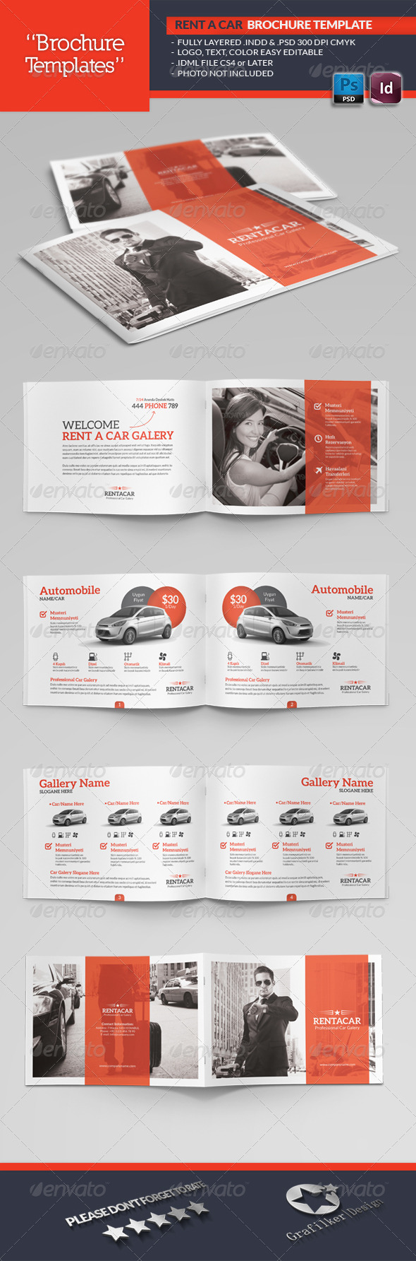 Rent A Car Brochure Template - Catalogs Brochures