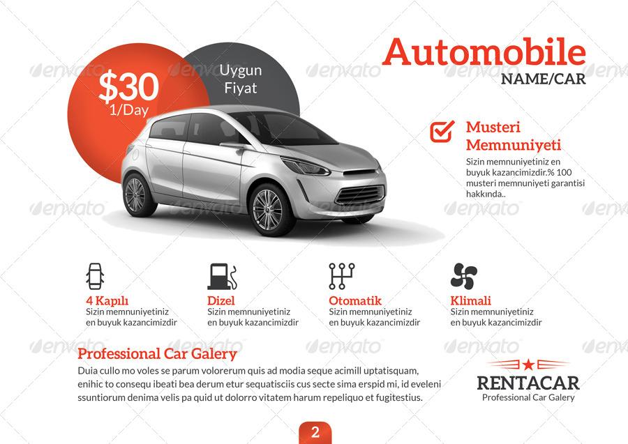 Rent A Car Brochure Template by grafilker | GraphicRiver