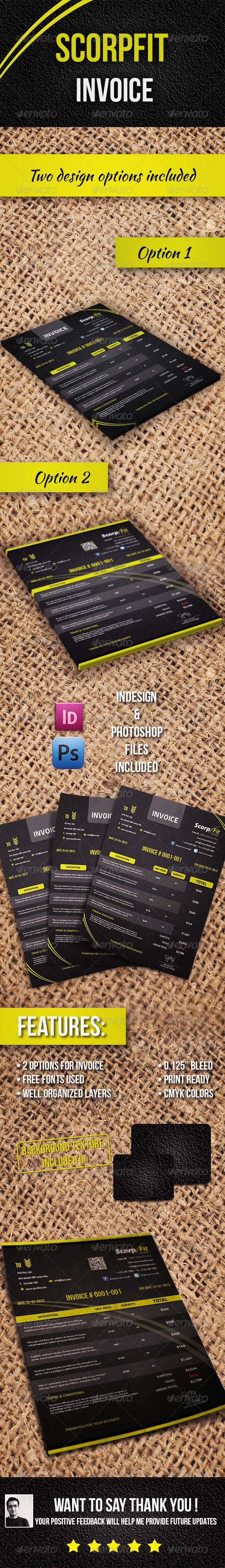 GraphicRiver Scorpfit Invoice 4891694