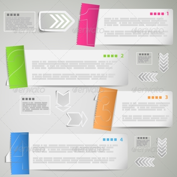 GraphicRiver Paper Strips for Data Presentation 5510662