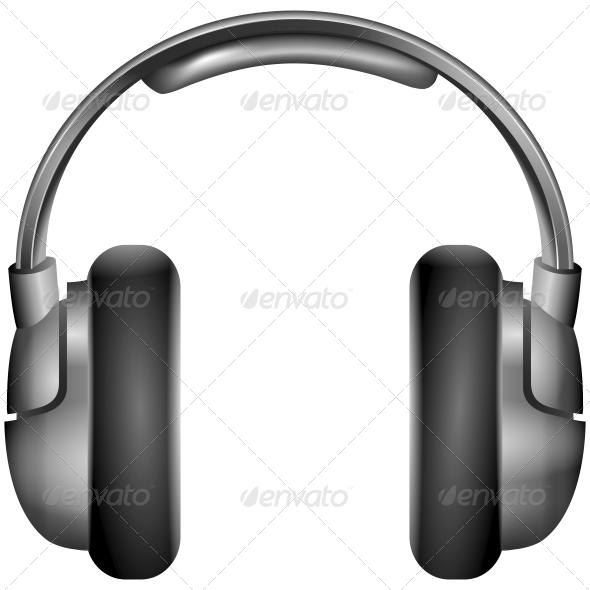 GraphicRiver Isolated Metallic Headphones 5510837
