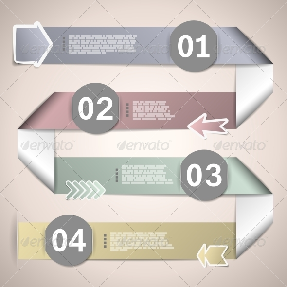 GraphicRiver Infographic Ribbons for Data Presentation 5510889