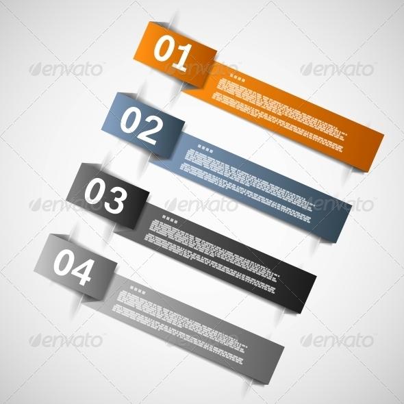 GraphicRiver Color Paper Templates for Progress Presentation 5510937