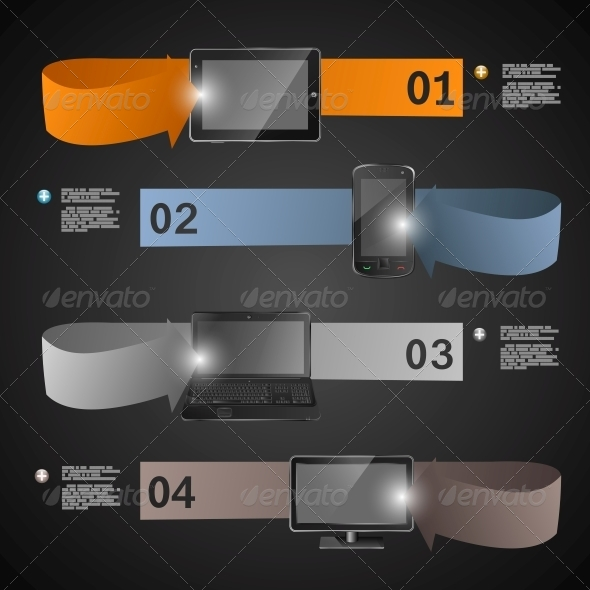 GraphicRiver Electronic Devices Statistics Presentation 5510954