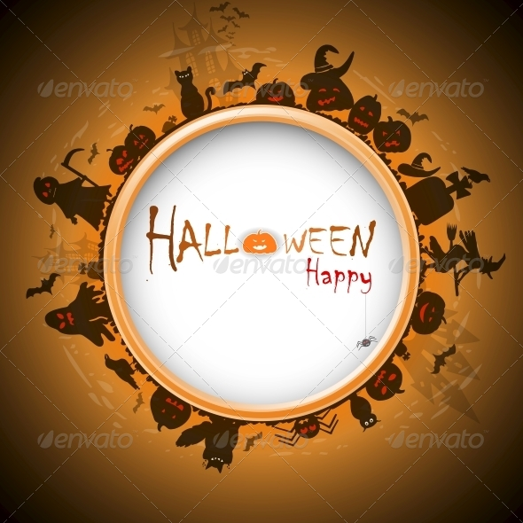 GraphicRiver Happy Halloween with Devildom in Fog 5511001