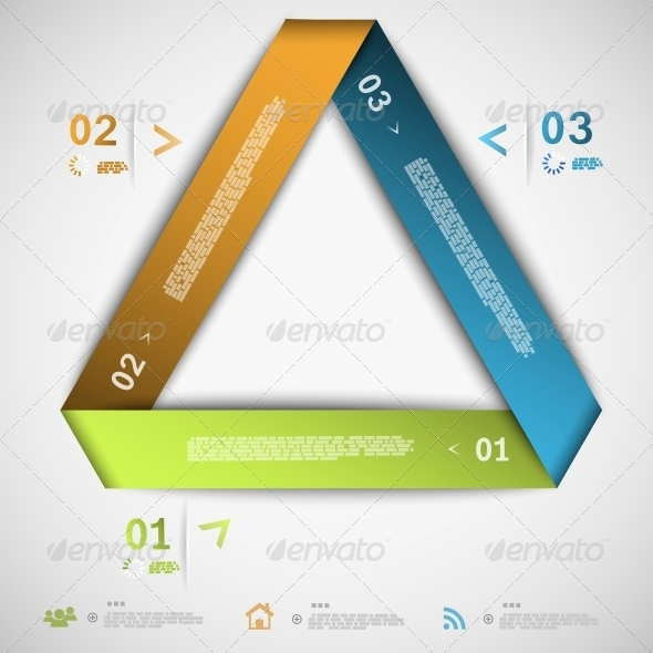 GraphicRiver Infographic Paper Triangle Template 5511267