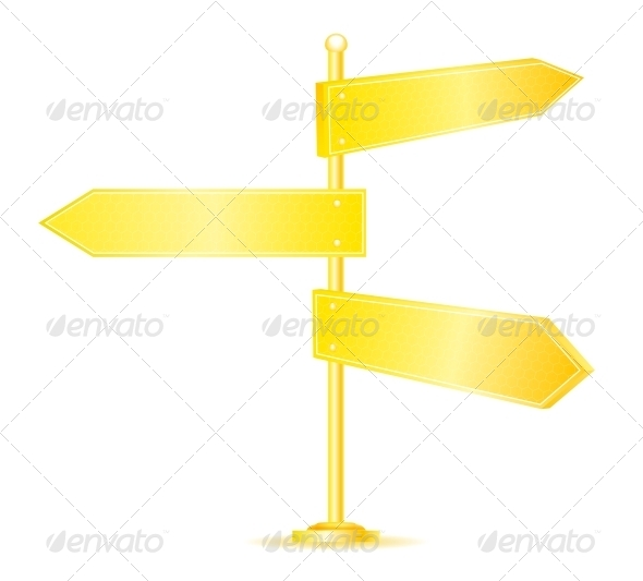 GraphicRiver Golden Direction Road Signs 5511466