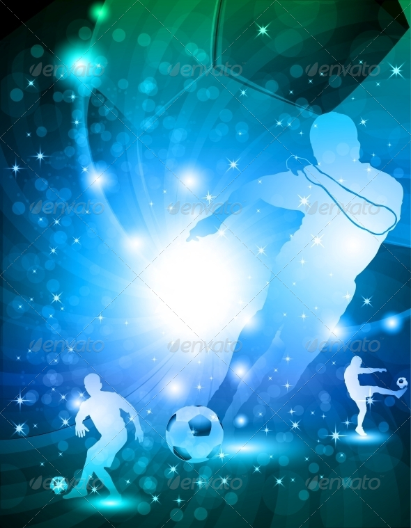 GraphicRiver Shiny Abstract Soccer Background 5511543