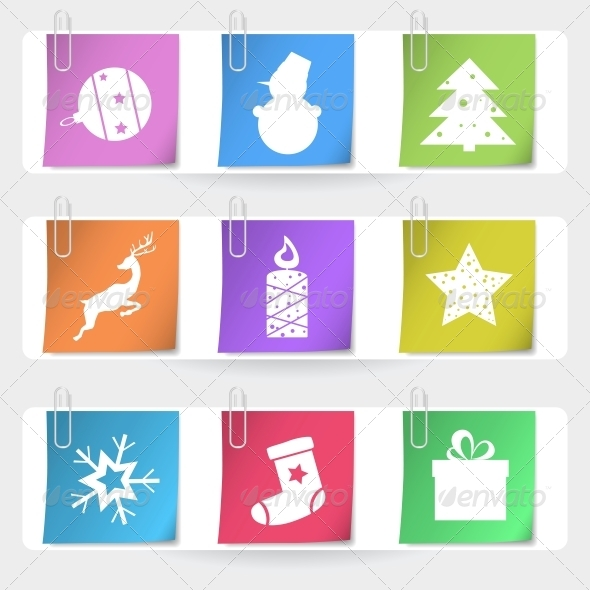 Color Stapled Christmas Cards