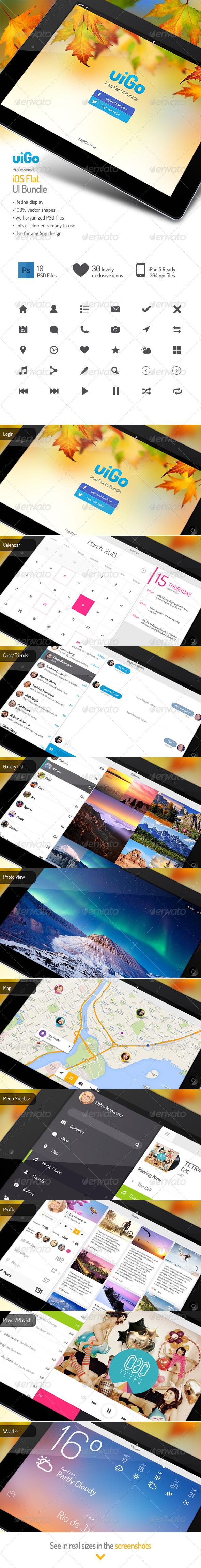 GraphicRiver uiGo Tablet UI Bundle 5502544