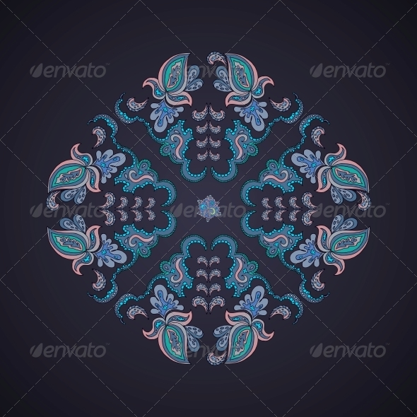 GraphicRiver Ornamental Rround Lace Pattern 5511642