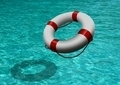 Life Buoy Over Blue Water