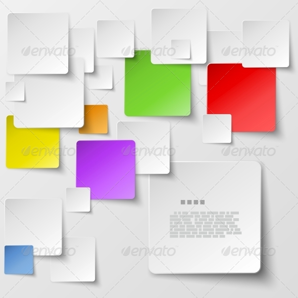 GraphicRiver Colored Square Tiles Abstract Vector Background 5511715