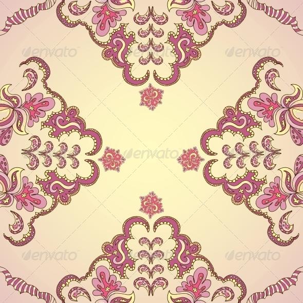 GraphicRiver Ornamental Round Vintage Pattern 5511888