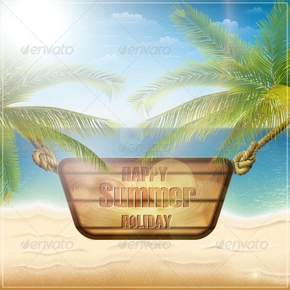 GraphicRiver Happy Summer Holiday Card 5512019
