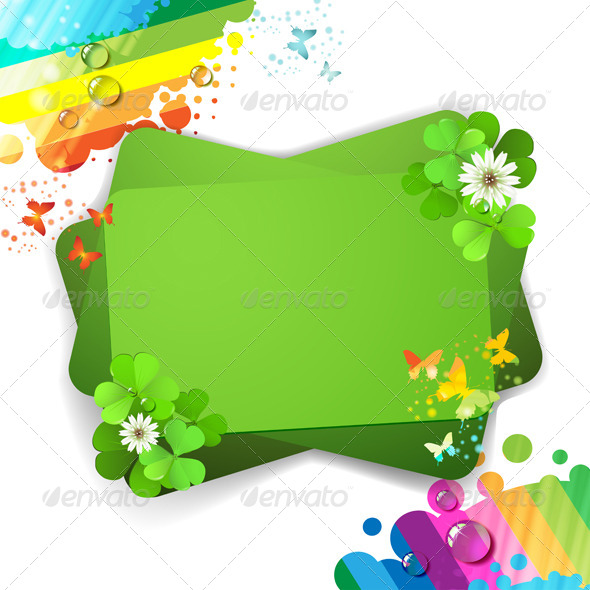 GraphicRiver Green Background with Clover 5512077