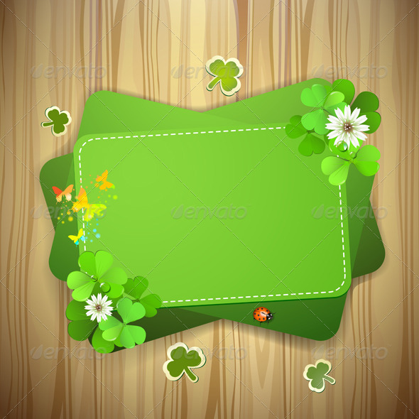 GraphicRiver Green Background with Clover 5512191