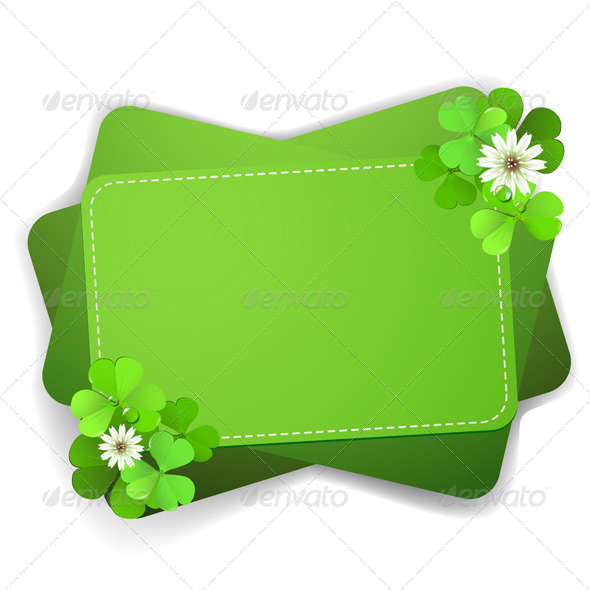 GraphicRiver Green Background with Clover 5512199