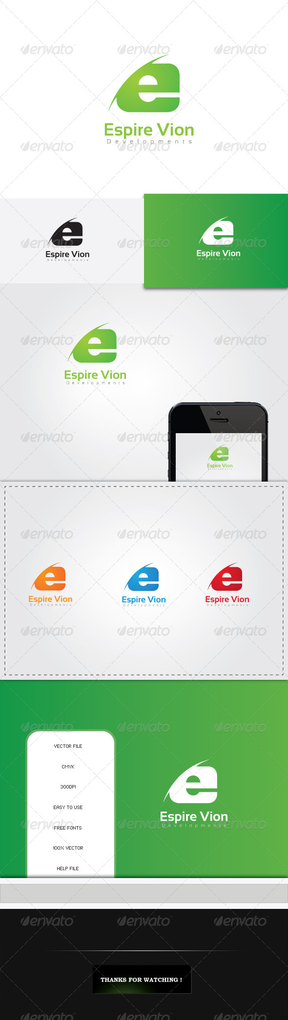GraphicRiver E Letter Logo Template 5512614