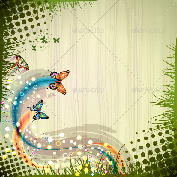 GraphicRiver Background with Butterflies 5512640