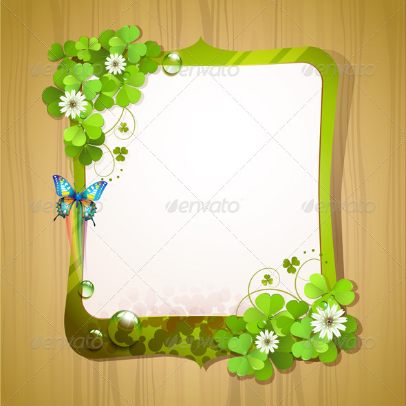 GraphicRiver Mirror Frame with Clover 5512796