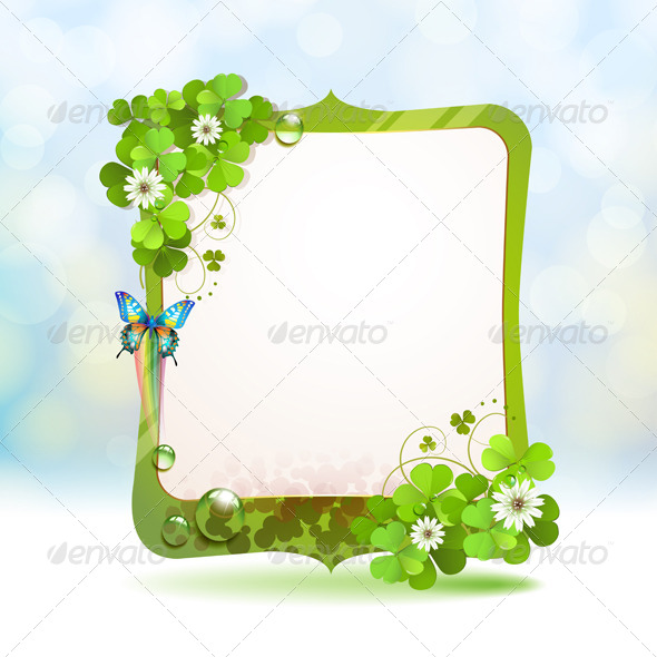GraphicRiver Mirror Frame with Clover 5512818