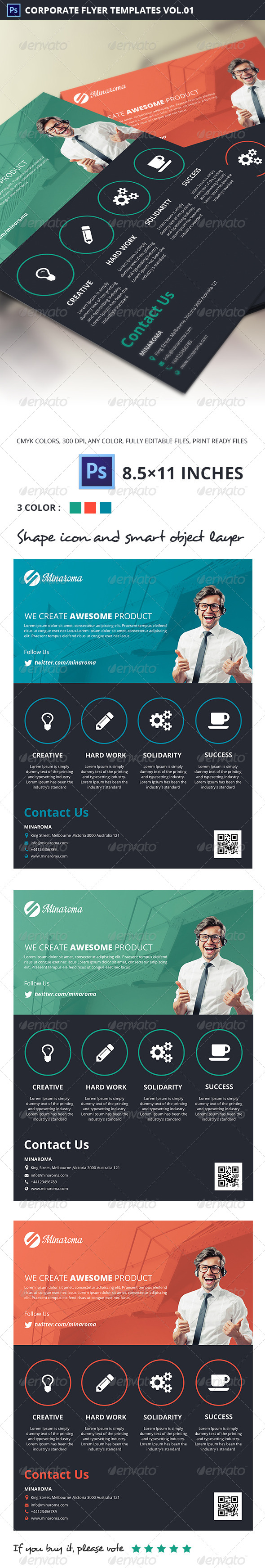 GraphicRiver Minaroma Corporate Flyer Templates Vol.01 5513233