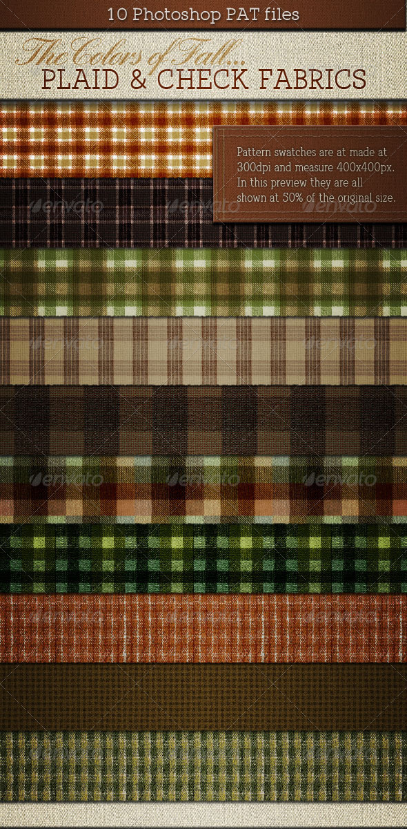 Plaids & Checks Patterns for Fall or Autumn - Nature Textures / Fills / Patterns
